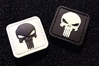 tactical Glow-in-the-dark the Punisher Skull PVC Patches