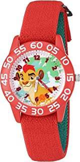 Disney Boy's 'Lion Guard' Quartz Plastic and Nylon Watch, Color:Red (Model: W002648)
