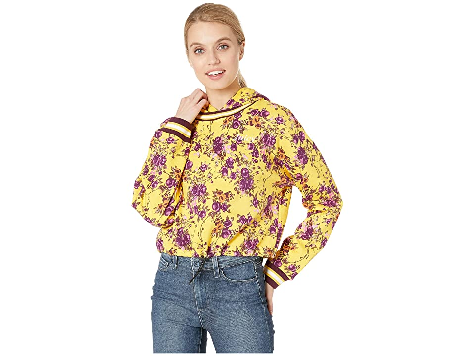 Juicy Couture Etched Floral Cinched Pullover with Hood (Etched Floral/Soft) Women