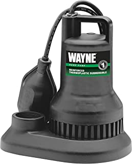 WAYNE WST30 3/10 HP Reinforced Thermoplastic Submersible Sump Pump With Tether Float Switch