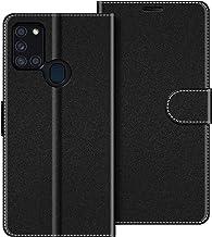 COODIO Funda Samsung Galaxy A21s con Tapa, Funda Movil Samsung A21s, Funda Libro Galaxy A21s Carcasa Magnético Funda para Samsung Galaxy A21s, Negro