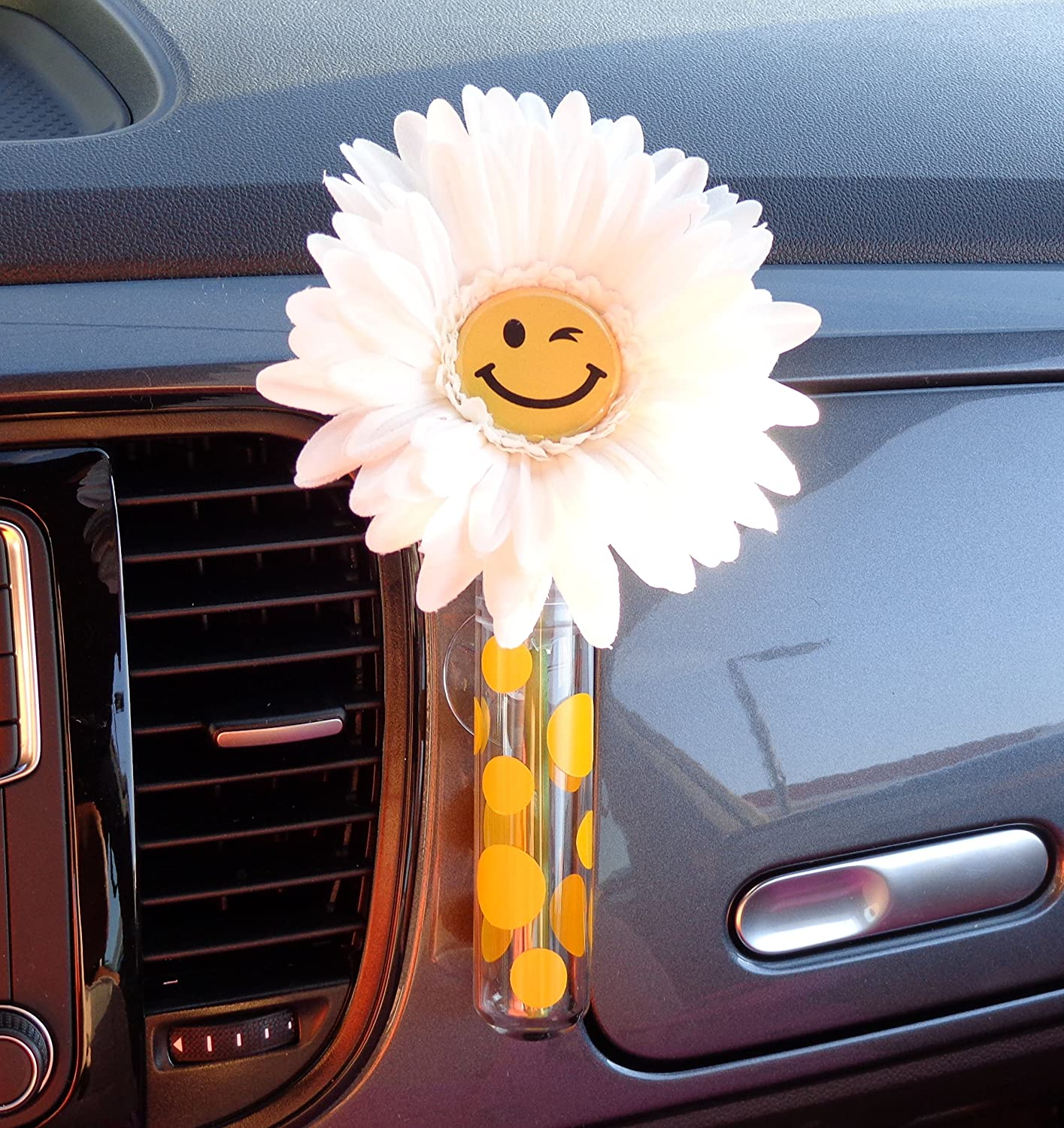 Bling My Bug VW Beetle Department store Flower Face - Universal Daisy Popular standard Happy with