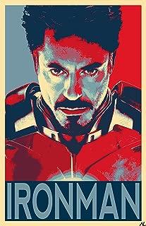 NLopezArt Iron Man Political Poster #2- Tony Stark Robert Downey Jr Marvel Avengers Superhero Pop Art Poster Print (11x17 inches)