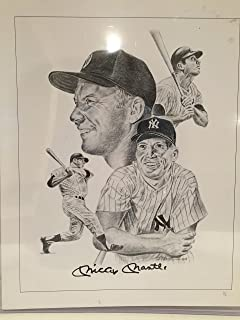 mickey mantle autographed lithograph
