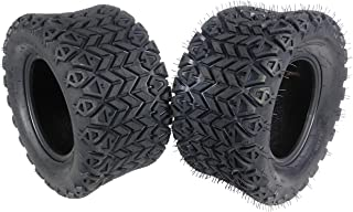 MASSFX SL201010(x2) 4 PLY Golf Cart Turf Tires 20x10-10, Set of two (2) Tires