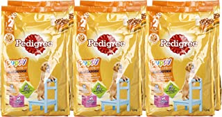 Puppy Pedigree Chicken & Eggs, Dry Dog Food (Stage 2 - 3 to 18 months ), 1.3 Kg - Pack of 6
