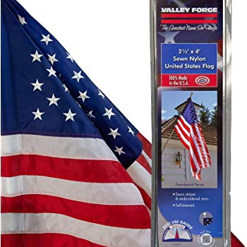 Valley Forge 60650-T American Flag, 2.5'x4' Sleeved, Multi color