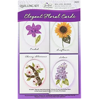 Quilled Creations Quilling Class Pack Kit Flowers /& Friends