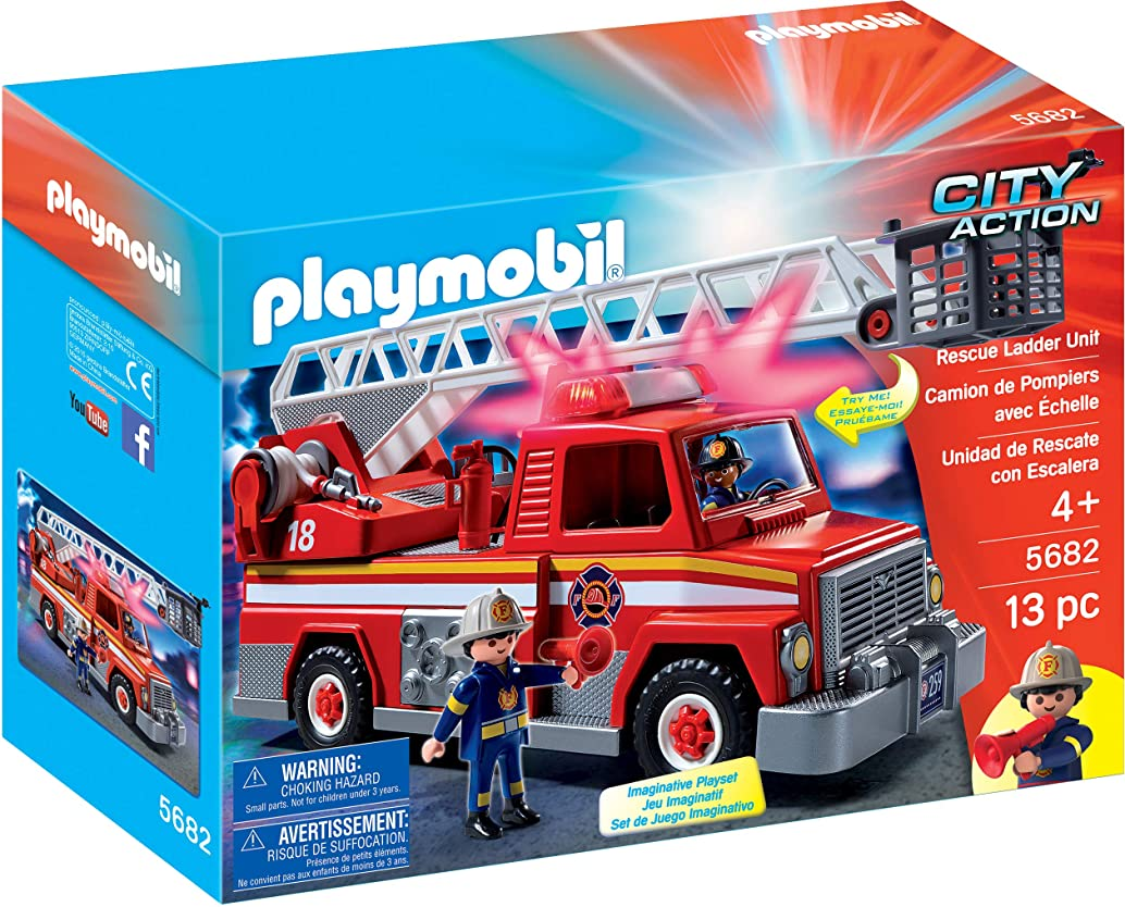 亡命気づかない広くPLAYMOBIL Rescue Ladder Unit Playset