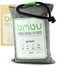bmbu Bamboo Charcoal Car Deodorizer/Car Freshener Bag - Remove Odor, Control Moisture & Purifier Your Car, Closet, Bathroom, Kitchen, Litter Box - Non-Fragrant Alternative to Sprays (1)