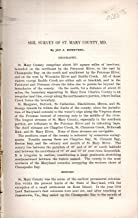 Soil Survey of St, Mary County, MD......disbound from Field Operations of the Division of Soils, 1900