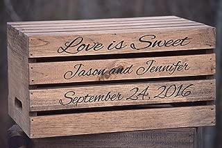 Rustic Wedding Cake Stand - Rustic Crate Personalized Wooden Cake Stand - Rustic Wedding Decor Wedding Cake Stand - Cake Stand - Cake Crate