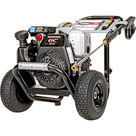 SIMPSON Cleaning MSH3125 3100 PSI at 2.5 GPM gas pressure washer powered by HONDA GC190