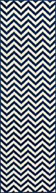 Momeni Rugs BAJA0BAJ-9NVY2376 Baja Collection Contemporary Indoor Outdoor Area Rug, Easy to Clean, UV Safe & Fade Resistant,