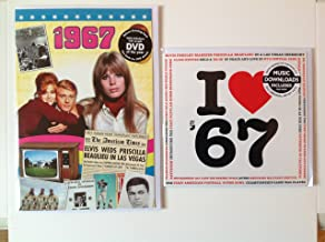 1967 BIRTHDAY or ANNIVERSARY GIFT - 1967 News DVD - 51 Minutes , 1967 Music Compilation CD - 20 Original Songs - 1967 Year Greetings Cards