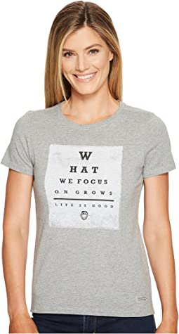 Life is Good - What We Focus On Crusher Tee