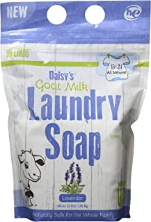 (1420ml, Lavender Scent) - B & N All Natural Daisy's Goat Milk Powdered Soap Laundry Detergent, Lavender Scent, 1420ml - 9...