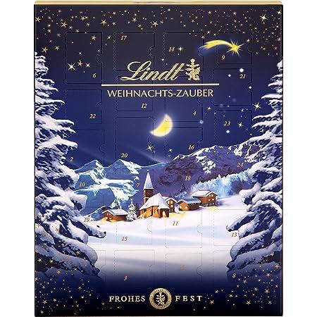 Lindt Weihnachts-Zauber Adventskalender 2021   265 g Milchschokolade und Weihnachtspralinen   Ideales Schokoladen-Geschenk