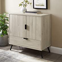 Walker Edison Furniture Company Mid Century Modern Buffet Entryway Doors Kitchen Dining Storage Cabinet Living Room, 30 In...