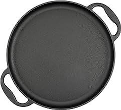 BBQ-Toro Poêle de Service | Ø 35 cm - Rond | Plaque à Griller en Fonte, Plaque de Cuisson, plancha