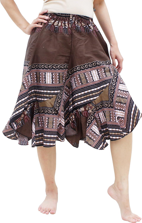 RaanPahMuang Carved Patch Dashiki Print Capri Elastic Latest item Wais 100% quality warranty Short