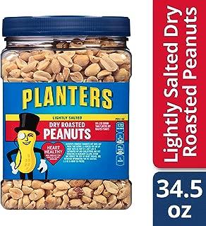Planters Lightly Salted Dry Roasted Peanuts, 34.5 oz Jar