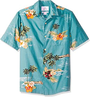 28 Palms Men's Relaxed-Fit 100% Cotton Hawaiian Shirt