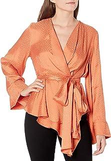 Women's Long Sleeve Wrap Kimono Top