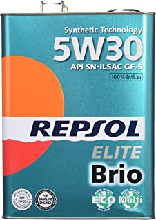 REPSOL ( レプソル ) エンジンオイル 【Brio ブリオ】 5W30 SN 半合成油 4L 007068 [HTRC3]