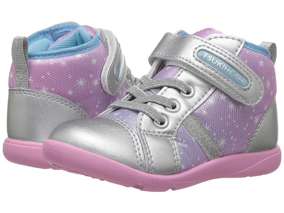 Tsukihoshi Kids Star (Toddler/Little Kid) (Silver/Pink) Girls Shoes