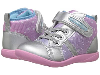 Tsukihoshi Kids Star (Toddler/Little Kid) (Silver/Pink) Girls Shoes