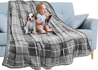 Plaid blanket children with Fur 130x160 Plush Dog with a door Plaid