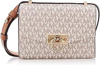 حقيبة هندريكس اكس اس قابلة للتحويل بشعار العلامة التجارية وتصميم طويل يمر بالجسم للنساء من مايكل كورس - فانيلا/اكرون