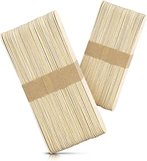 Rayson Large Wide Wood Wax Spatula Applicator 6 x 3/4 100 pack
