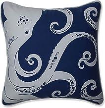 Pillow Perfect Outdoor | Indoor Ollie Octopus Throw Pillow, 16.5 X 16.5 X 5, Blue
