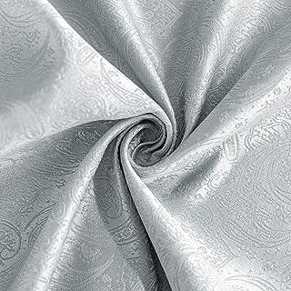 Nappe de Table Gris Nappe Soie Brillante Nappe résistante aux Taches 150 x 240 cm (3,6 ㎡) Linge de Table Entretien Facile ...