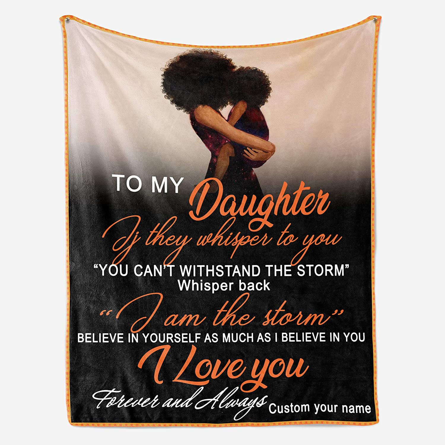 Personalized Custom Fleece Blanket - MOM to ※ラッピング ※ Daughter AM I お得セット The