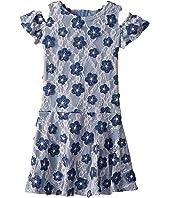 Soutache Cold Shoulder Lace Dress (Little Kids)