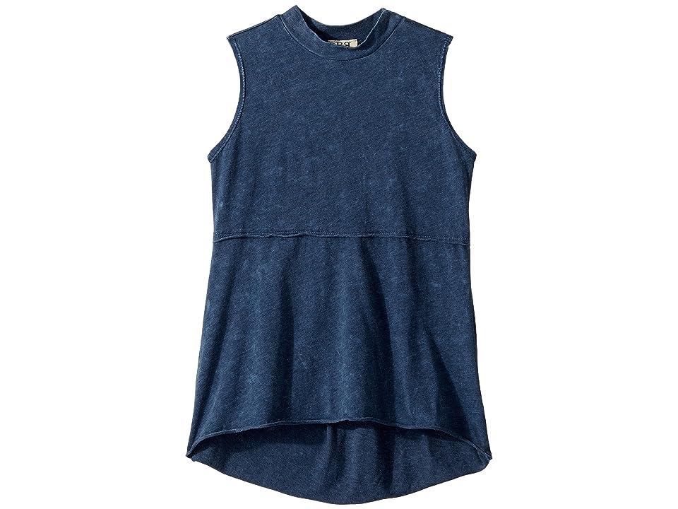 People's Project LA Kids Kaley Tank Top (Big Kids) (Navy) Girl's T Shirt