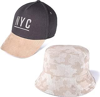 accsa Toddler Kid Boy Baseball Cap and Bucket Brim Hat Sun Protection 2 Pack
