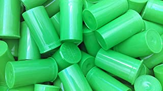 50 Pack of Green 13 Dram Pop Top Bottle Rx Vial Medical Pill Box Herb Container