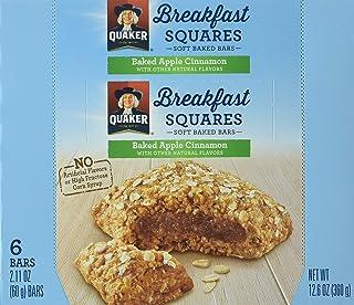 Quaker Breakfast Squares, Apple Cinnamon, 48 Count (Pack of 8)