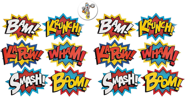 Mixed 12 Cardboard low-pricing Jumbo Superhero Spring new work Word Cutouts 18