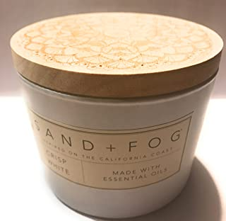 Sand + Fog Crisp White Candle 12 Oz