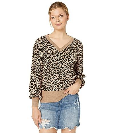 Karen Kane Blouson Sleeve Sweater (Leopard) Women