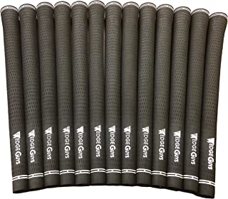 Wedge Guys Pro Velvet Golf Grips – Set of 13 Rubber Compound Blend All-Weather Performance Golf Club Grips Replacement for Custom Regripping of Clubs Wedges Drivers Irons Hybrids M60 Black