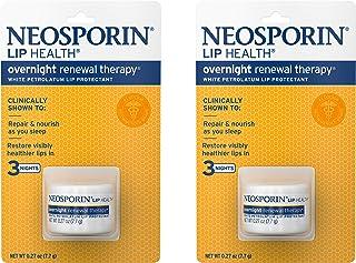 Neosporin Lip Health Overnight Healthy Lips Renewal Therapy Petrolatum  Lip Protectant, 0.27oz. (Pack of 2)