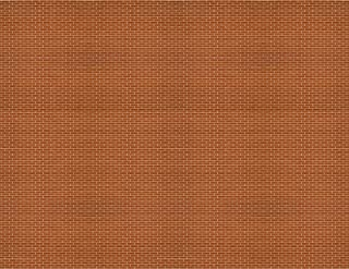 HO Scale Brick Paper 8.5x11 Pack of 5 (Dark Red)