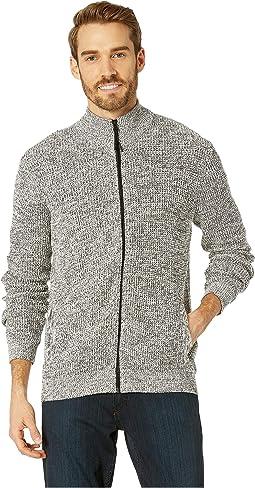 Long Sleeve Zip Mock Neck Sweater