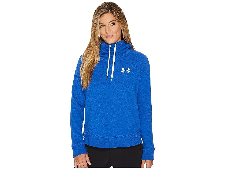 Under Armour Favorite Fleece Pullover Left Chest Hoodie (Lapis Blue/White) Women